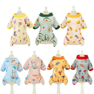 New Costume Sleeepwear Coat Small Pet Dog Puppy Pajamas Jumpsuit Casual Clothes