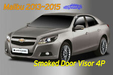 Smoked Window Visor Sun Rain Vent Guard 4Pcs A142 for CHEVROLET 2013~2015 Malibu