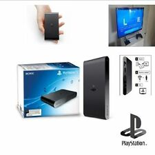 PlaystationTV Compact Black Console Works Sony StreamWifi PS3 PS4 PSP Vita Games