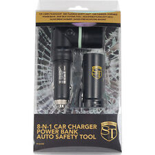 8-N-1 CAR CHARGER POWER BANK FLASHLIGHT AUTO SAFETY TOOL