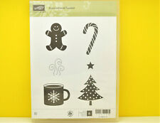 NEW Stampin Up Scentsational Season stamp Gingerbread Trees Coffee Star Cane