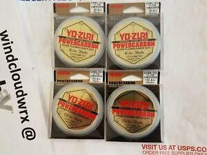 4 SPOOLS Yo-Zuri POWERCARBON 100% super fluorocarbon leader fish line 6 10 15 lb