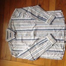 chemise Cyrillus 12 ans à Rayures Bleu Sur Fond Blanc à manches longues