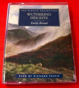 Emily Bronte Wuthering Heights 2-Tape Audio Book Richard Pasco