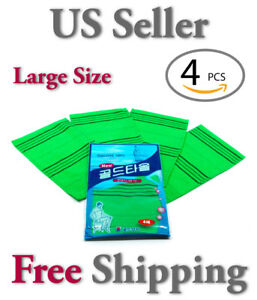 Korean Exfoliating Washcloth /Body Scrubber - Original Italy Towel [4pcs] Large