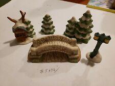"Lot Of 23 Homco Porcelain Bisque Miniature Figurines Christmas 2-1/4"""