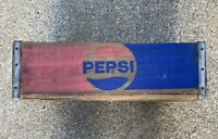 Vintage 1977 Pepsi Cola Box Soda Pop Temple Chattanooga TN Wood Crate #1