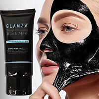 Glamza Black Mask Deep Cleansing Charcoal Peel Off Blackhead Facial Cleaning