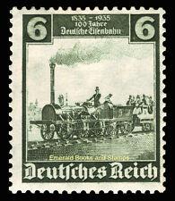 EBS Germany 1935 German Railways Centenary - 6 Pfennig - Michel 580 MNH**