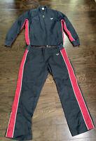 Vintage Nike AIR Windbreaker Track Soccer Warmup Suit Jacket Pants Women's Sz XL