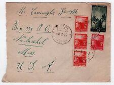 1949 ITALY Postal Cover ITALIA MESSINA SICILY Nantasket Beach USA Massachusetts