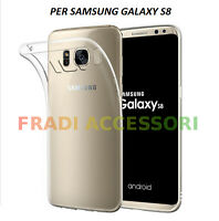Cover case custodia Samsung Galaxy S8 TPU ultra slim silicone trasparente 0,3mm