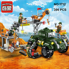 Enlighten 1712 Military Army Tank Car Factory Building Block blocks toy Toys