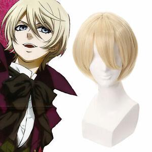 Black Butler Alois Trancy Cosplay Wig Short Straight Blonde Kuroshitsuji Wigs