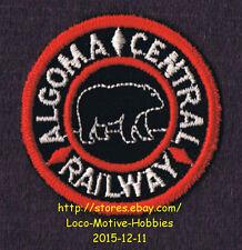 LMH Patch  ALGOMA CENTRAL Railway Agowa Canyon Tour Train AC Black Bear Logo Red