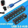 Hub USB Splitter Multi 3.0 Schnelle Geschwindigkeit 4/7 Port Netzteil für Laptop