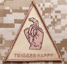 TRIGGER HAPPY BLACK HAWK DOWN USA ARMY BADGE DESERT VELCRO® BRAND PATCH