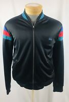 Vintage TODD 1 Mens Large L Zip Casual Track Jacket Striped Blue Red