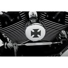 Cromado Cubierta De Bocina Con Malla Negra Maltés la cruz para Harley-Davidson