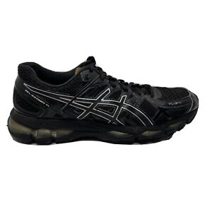 Asics Gel Kayano 21 Running Shoes Womens Size 9 Black Gold Sneakers T4H7N Lace U