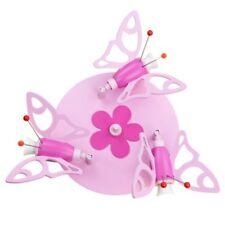 Elobra Deckenleuchte Schmetterling Holz rosa für 3 X E14