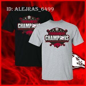 Arkansas Razorbacks 2021 Baseball Conference Tournament Champions T-Shirt S-3XL