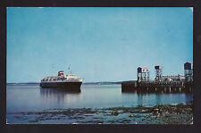 1960 Bluenose Ferry ship Yarmouth-Bar Bay Of Fundy Nova Scotia to Maine postcard