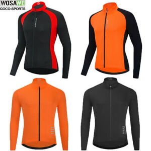 Mens Cycling Jersey Long Sleeve Shirts Quick Dry Running Hiking Breathable Tops