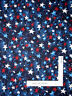 Patriotic Red Blue White Stars on Dark Blue Cotton Fabric Santee By The Yard
