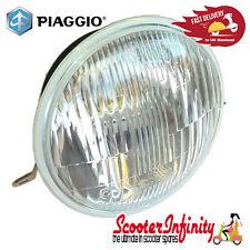 Headlight Unit PIAGGIO Round, Real Glass Lens VESPA PX80-200/PE/Lusso/'98
