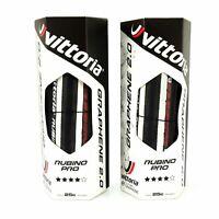 Vittoria Rubino Pro Road Bike Tire G+ 2.0 GRAPHENE 700 x 25c Black / White Tire