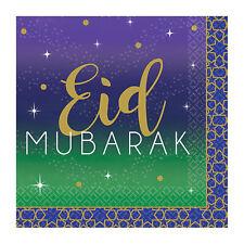 16 x Eid Ramadan Kareem Paper Beverage Drinks Napkins Party Tableware