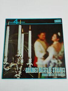 STRAUSS Grandes Valses Disco vinilo LP Werner Müller y su orquesta 1964 Decca.