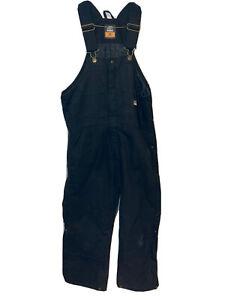 Men's Berne Workwear Deluxe Insulated Bib Overalls Medium Short Black B415BK