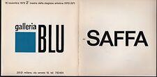 Rarissimo! Disco blu per Saffa. Galleria blu. Raymond Hains. 1970. PP2