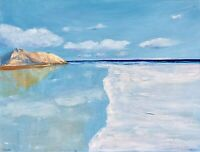 California Painting Seascape Original Canvas Art Impasto 16 by 20