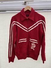 Evisu Custom Made Red Retro Vintage Wool Jacket Size Medium VERY RARE