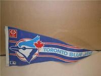 "MLB Baseball 28"" Toronto Blue Jays CIBC Bank Promo Vintage Felt Pennant  1990's"