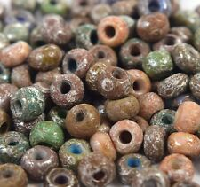"Czech Aged Glass Seed Beads Size 31/0 "" RUSTIC PICASSO MARBLE "" 50 Grams Loose"