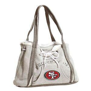 San Francisco 49ers NFL Football Team Ladies Embroidered Hoodie Purse Handbag