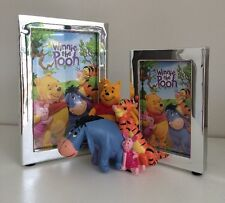 WINNIE THE POOH Silver Plated Double Photo Frame