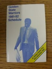 1981/1982 Fixture Card: Basketball - Golden State Warriors (fold out style). Any
