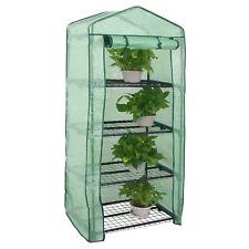 4 Tiers Mini Greenhouse Herb Flower Garden House Roller Indoor/Outdoor Plants