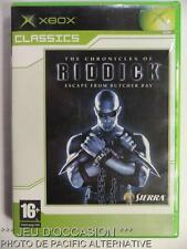 Jeu THE CHRONICLES OF RIDDICK Escape From Butcher Bay microsoft XBOX francais #1