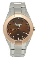 Kenneth Cole New York Dress Date Men's Analog Round Watch KC9132 Rose-Gold Bezel