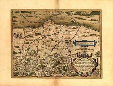 Abraham Ortelius Vindelica & Bavaria Antik Alt Reproduktion Große A3+ Landkarte