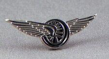 Winged wheel pin badge. Bikers badge. Flying wheel.