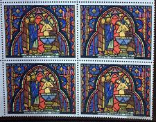 YT 1492 - BLOC DE 4 - TIMBRES NEUFS** LUXE VITRAIL SAINTE CHAPELLE JUDAS