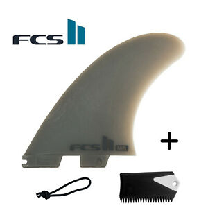 FCS 2 II Mark Richards MR Twin Fin NeoGlass W/ Trailer + Free Leash String &Comb