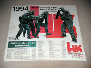 VINTAGE~ RARE 1994 HK ITD INTERNATIONAL TRAINING DIVISION POSTER - NOT A REPRINT